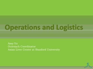 Operations and Logistics