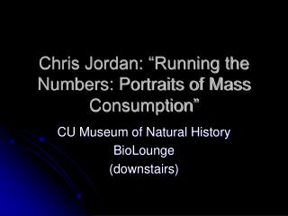 "Chris Jordan: ""Running the Numbers: Portraits of Mass Consumption"""