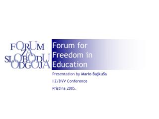 Forum for Freedom  in Education