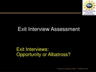 Exit Interview Assessment