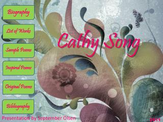 Cathy Song