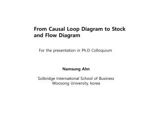 From Causal Loop Diagram to Stock and Flow Diagram