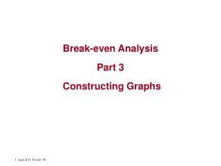 Break-even Analysis   Part 3   Constructing Graphs