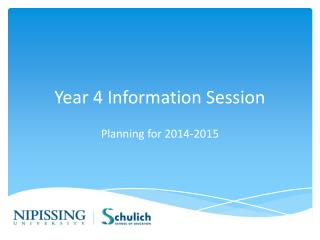 Year 4 Information Session