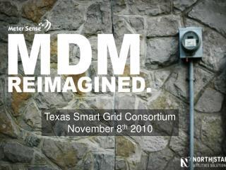 Texas Smart Grid Consortium November 8 th  2010