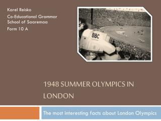 1948 Summer Olympics in London