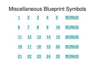 Miscellaneous Blueprint Symbols