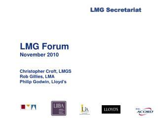 LMG Forum November 2010