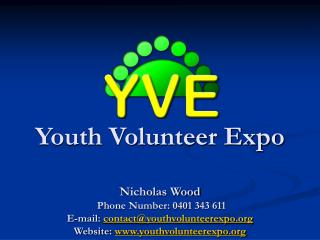 Youth Volunteer Expo