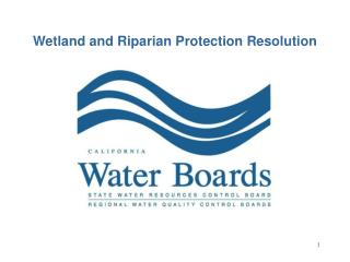 Wetland and Riparian Protection Resolution
