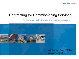 Contracting for Commissioning Services