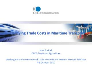 Clarifying Trade Costs in Maritime Transport