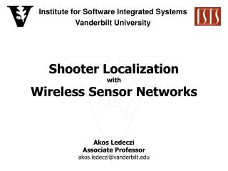Shooter Localization with Wireless Sensor Networks