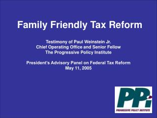 Family Friendly Tax Reform