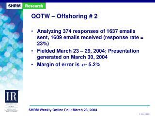 QOTW – Offshoring # 2