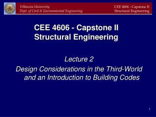 CEE 4606 - Capstone II Structural Engineering