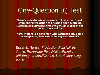 One-Question IQ Test