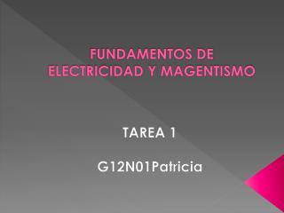 FUNDAMENTOS DE ELECTRICIDAD Y MAGENTISMO