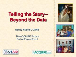 Telling the Story ─ Beyond the Data
