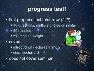 progress test!