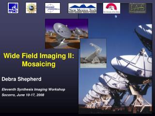 Wide Field Imaging II:  Mosaicing