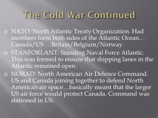 The Cold War Continued