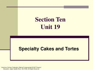 Section Ten Unit 19