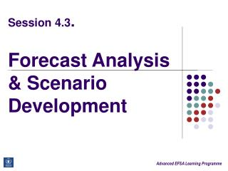 Session 4.3 . Forecast Analysis & Scenario Development