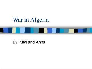 War in Algeria
