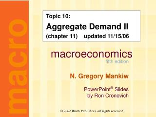 Topic 10: Aggregate Demand II (chapter 11)    updated 11/15/06