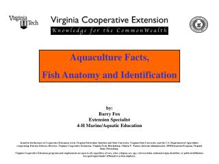 Aquaculture Facts, Fish Anatomy and Identification