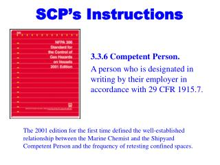 SCP's Instructions