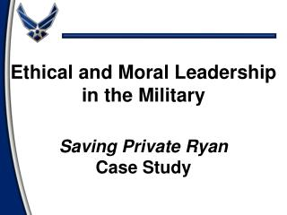 Saving Private Ryan Case Study