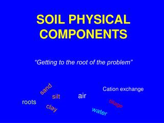 SOIL PHYSICAL COMPONENTS