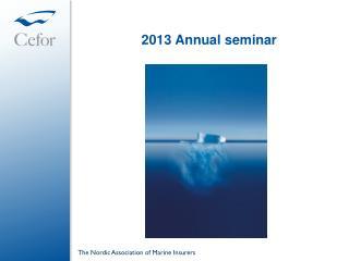 2013 Annual seminar