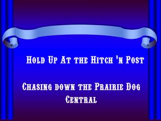 Hold Up At the Hitch 'n Post
