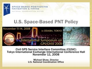 U.S. Space-Based PNT Policy