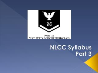 NLCC Syllabus P art 3