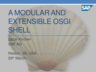 A modular and extensible  osgi  shell