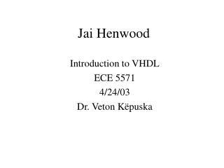 Jai Henwood