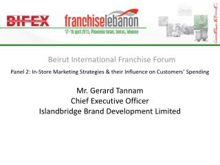 Beirut International Franchise Forum