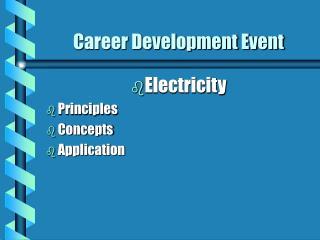 Career Development Event