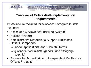 Overview of Critical-Path Implementation Requirements