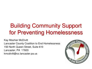 Building Community Support for Preventing Homelessness