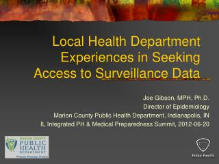Local Health Department Experiences in Seeking Access to Surveillance Data