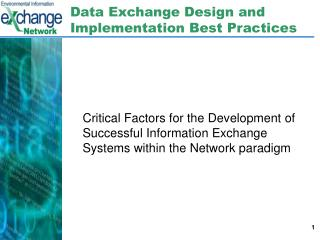 Data Exchange Design and Implementation Best Practices