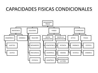 CAPACIDADES FISICAS CONDICIONALES
