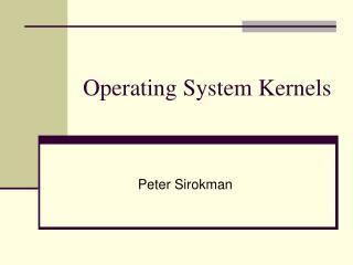 Operating System Kernels