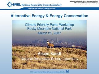 Alicen Kandt National Renewable Energy Laboratory