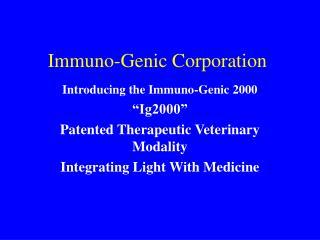 Immuno-Genic Corporation
